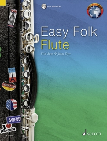 Easy Folk Flute: Traditional Pieces Book & Cd (Schott)