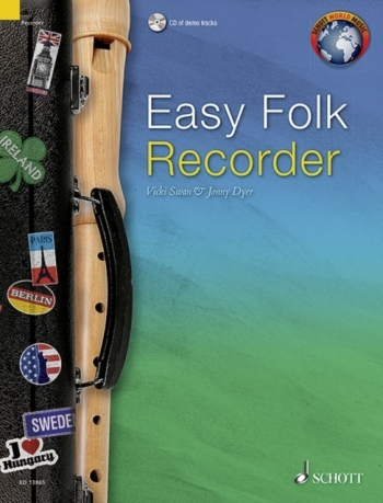 Easy Folk Recorder Traditional Pieces Book & Cd (Schott)