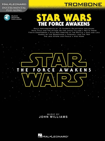 Instrumental Play-Along: Star Wars - The Force Awakens: Trombone Bass Clef Book & Online A