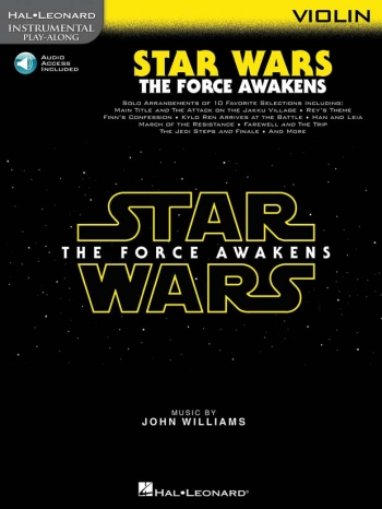 Instrumental Play-Along: Star Wars - The Force Awakens: Violin Book & Online Audio