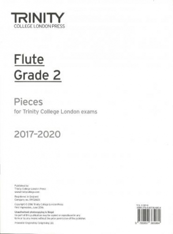 Trinity College London Flute Exam Pieces Grade 2 2017–2020 (Flute Part Only)