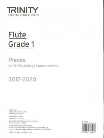 Trinity College London Flute Exam Pieces Grade 1 2017–2020 (Flute Part Only)