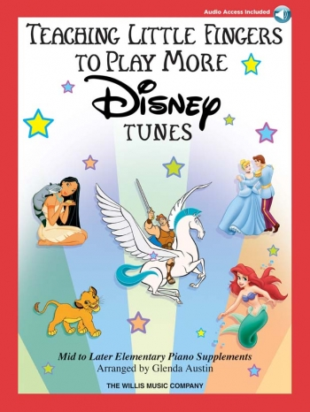 Teaching Little Fingers To Play: More Disney Tunes: Piano: Book & Cd (arr Austin)