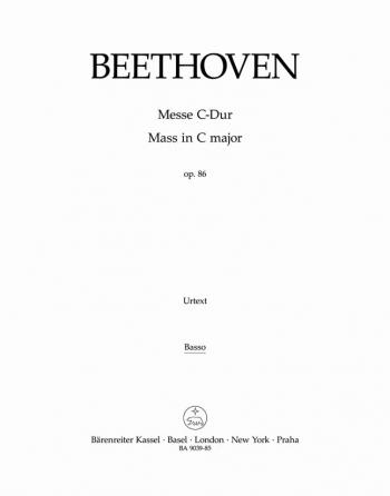 Mass in C, Op.86 (L) (Urtext). (Barenreiter)