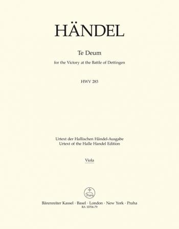 Dettinger Te Deum (HWV 283) (L) (Urtext) - Orch: Viola (Barenreiter)