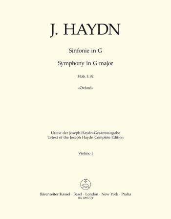Symphony No. 92 in G (Oxford) (Hob I:92) (Urtext) (Barenreiter)