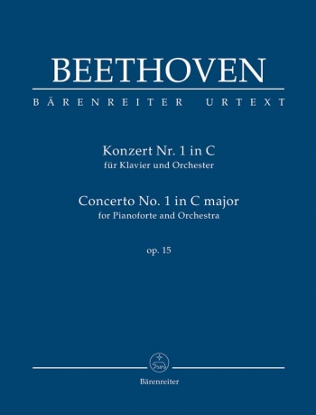 Concerto for Piano No.1 in C, Op.15: Study Score (Urtext) (Barenreiter)