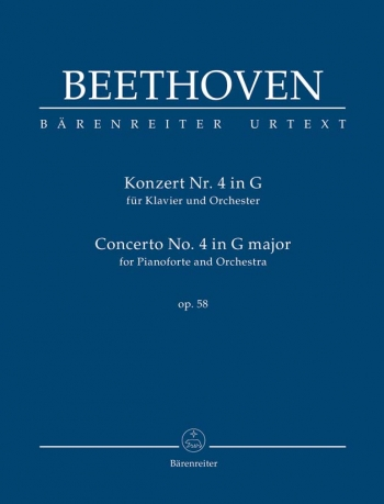 Concerto For Piano No.4 In G, Op.58 Study Score (Urtext) (Barenreiter)