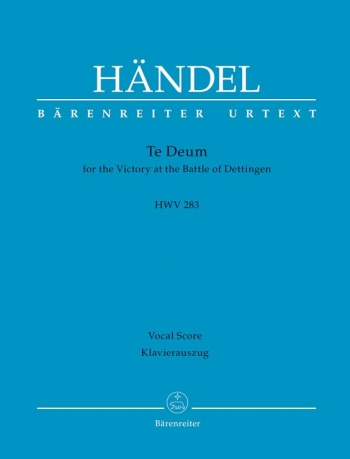 Dettinger Te Deum (HWV 283) (L) (Urtext) Vocal Score (Barenreiter)