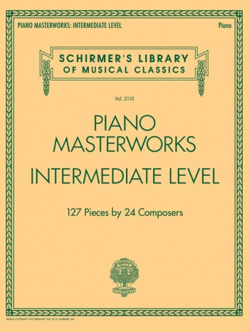 Schirmer's Library Of Musical Classics Volume 2110: Piano Masterworks - Intermediate Level
