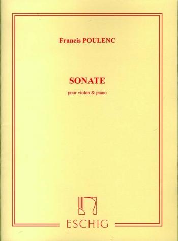 Sonate: Violin and Piano: (Eschig)