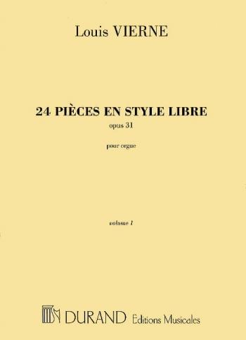 24 Pieces En Style Libre Op.31 Vol.1: Organ (Durand)