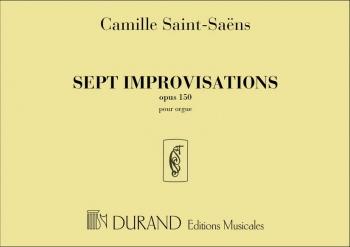Sept Improvisations Opus 150: Organ (Durand)