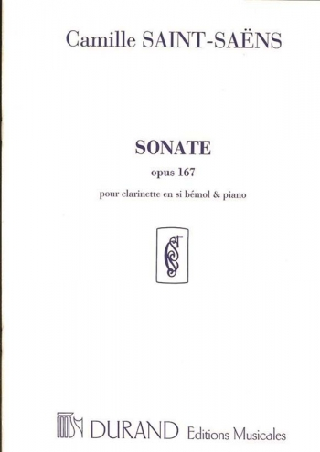 Sonate Opus 167: Clarinet and Piano (Durand)