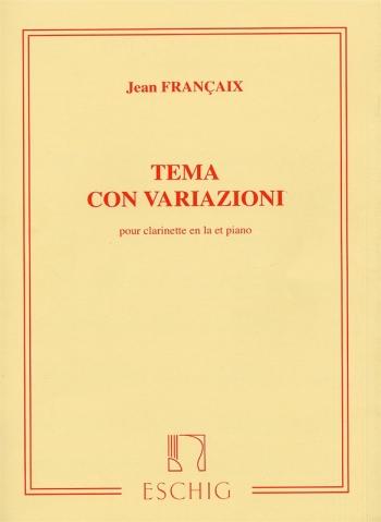 Tema Con Variazioni: Clarinet and Piano (Eschig)
