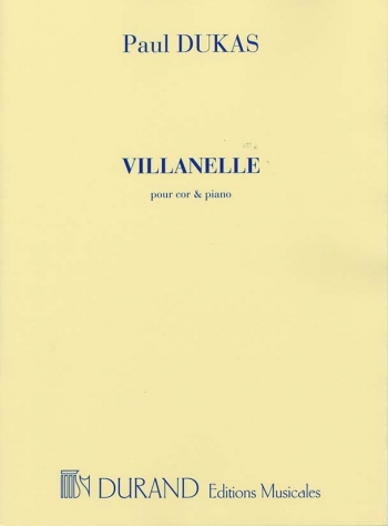 Villanelle: Horn and Piano: (Durand