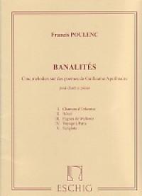 Banalités: Soprano Voice and Piano (Eschig)