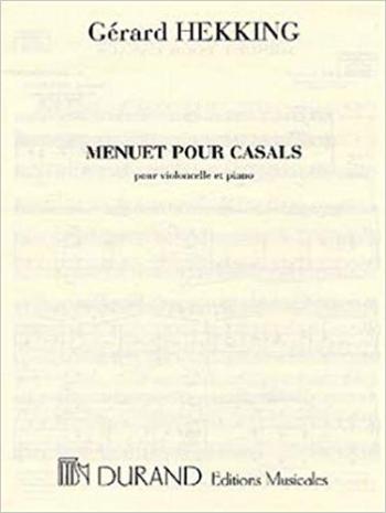 Menuet Pour Casals Vlc-Piano : (Durand)