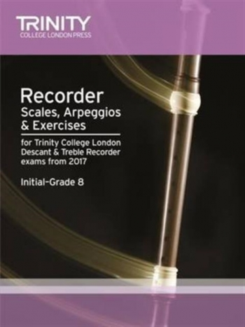 Trinity College London Recorder Scales Arpeggios & Exercises Grade Initial-8 From 2017
