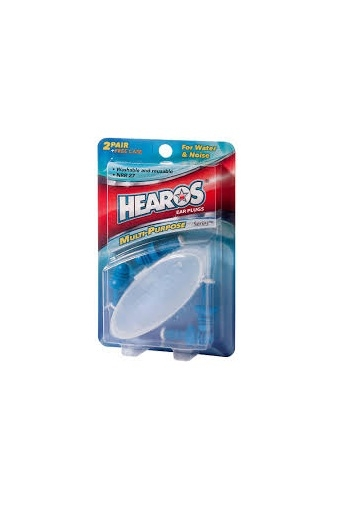 Hearos Multi-Purpose Series Ear Plugs 2 Pair + Free Case 1