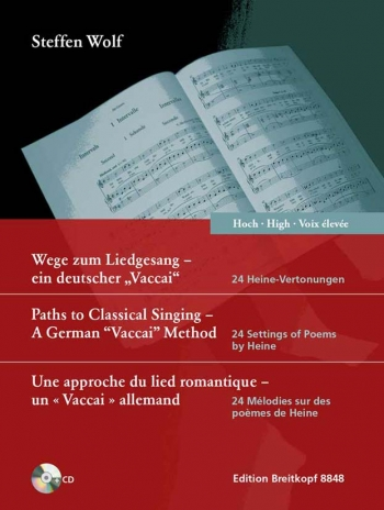 Paths to Classical Singing - hohe Stimme (mit CD): High Voice and Piano (Breitkopf)
