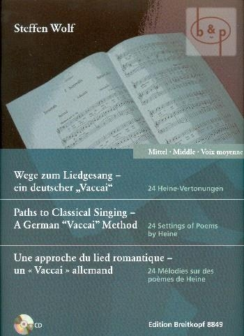Paths to Classical Singing - mittlere Stimme (mit CD): Medium Voice and Piano (Breitkopf)