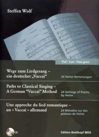 Paths to Classical Singing - tiefe Stimme (mit CD): Low Voice (Breitkopf)