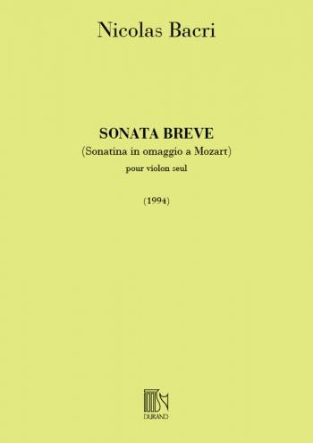 Sonata Breve Op.45: Violin (Durand)