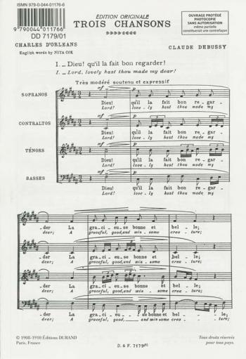 Trois Chansons, : Choir (Durand)