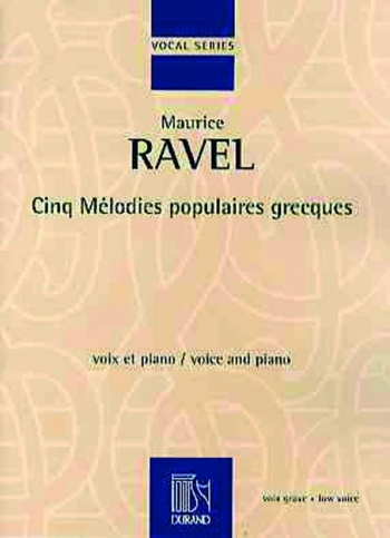 5 Greek Songs: Cinq Melodies Populaires Grecques: Vocal And Piano (Durand)