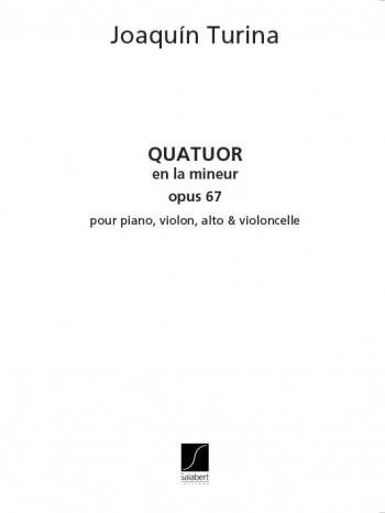 Quatuor Op.67 En La Mineur : Mixed Ensemble (Salabert)
