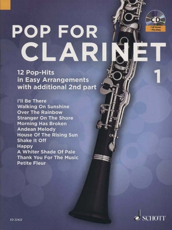Pop For Clarinet Band 1: Clarinet & CD