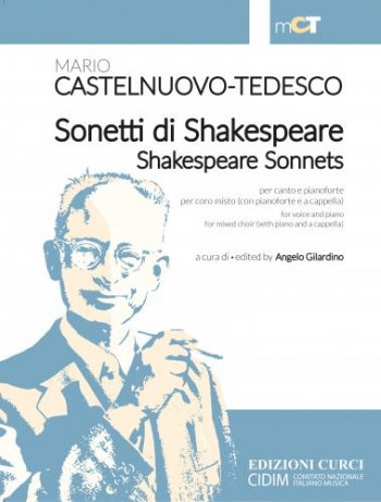 Sonetti di Shakespeare / Shakespeare Sonnets: VOICE & PIANO: (Angelo Gilardino )