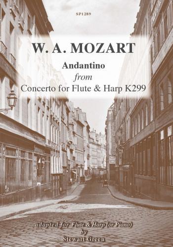 Andantino K299 (flt & Hrp/Pno): Flute & Harp (Spartan )