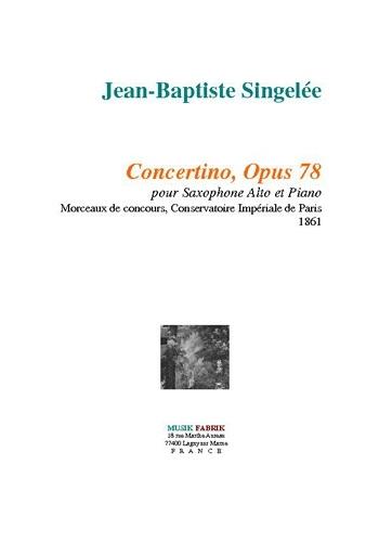 Concertino Op.78: Alto Sax & Piano (Fabrik)