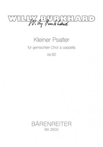Kleine Psalter, Op.82. : Choral: (Barenreiter)