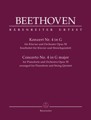Sextet based on Concerto for Piano No.4 in G, Op.58 (Urtext). : Mixed Ensemble: (Barenreiter)