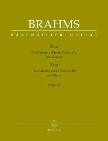 Clarinet Trio in A minor, Op.114 (Urtext). : Mixed Ensemble: (Barenreiter)