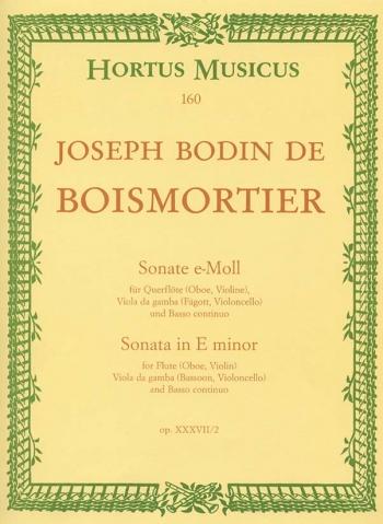 Sonata in E minor, Op.37/2. : Mixed Ensemble: (Barenreiter)