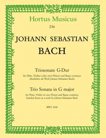 Trio Sonata in G (BWV 1038). : Mixed Ensemble: (Barenreiter)