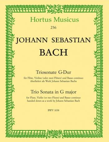 Trio Sonata in G (BWV 1038). : Mixed Ensemble: (Barenreiter)