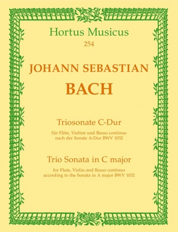 Trio Sonata in C (from Sonata in A BWV 1032). : Mixed Ensemble: (Barenreiter)