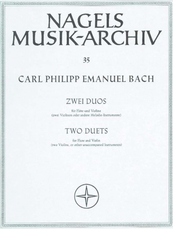 Duos (2) in E minor (Wq 140) & in C (Wq 142). : Mixed Ensemble: (Barenreiter)