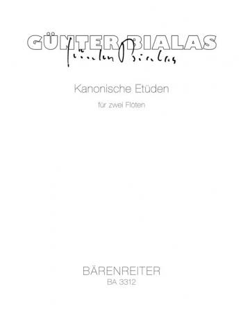 Canonic Studies. : 2 Flutes: (Barenreiter)