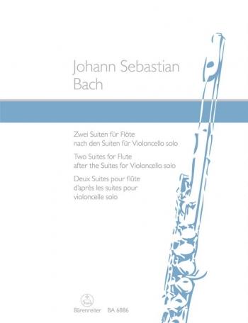 Suites (2) for Flute based on the Suites for Violoncello Solo (BWV 1007 & 1009).: Flute Solo: (Baren