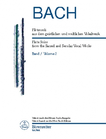 Flute Solos from the Sacred and Secular Vocal Works Vol.2 (Urtext). : Flute Solo: (Barenreiter)