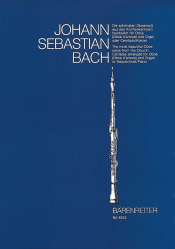 Most Beautiful Oboe Solos from The Church Cantatas : Oboe (Barenreiter)