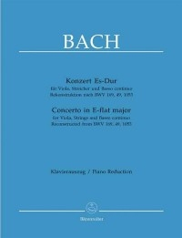 Concerto E-flat  for Viola (reconstructed from BWV 169, 49, 1053) Large Score
