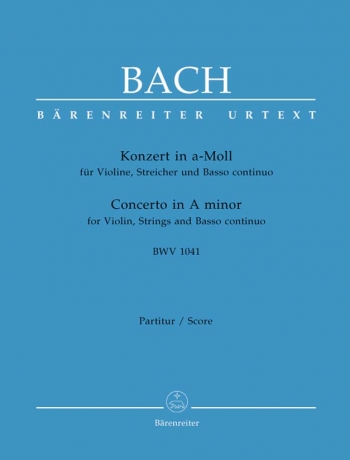 Concerto A minor (BWV 1041) for Violin (Urtext): Large Score Paperback: (Barenreiter)