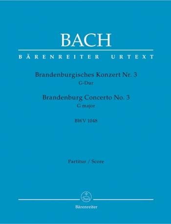 Brandenburg Concerto No.3 in G (BWV 1048) (Urtext). : Large Score Paperback: (Barenreiter)